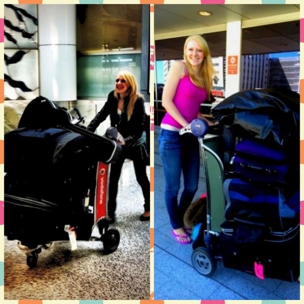 Left: arriving in Australia Right: leaving Australia 2 1/2 years later